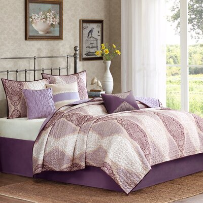 6 Piece Coverlet Set Size: King