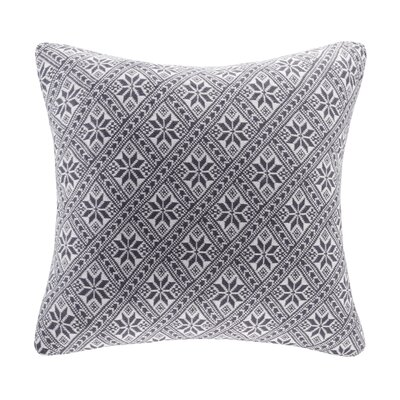 Snowflake Knit Throw Pillow