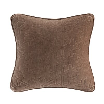 Quilted Snowflake Throw Pillow Color: Brown