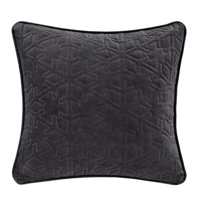 Quilted Snowflake Throw Pillow Color: Charcoal Gray