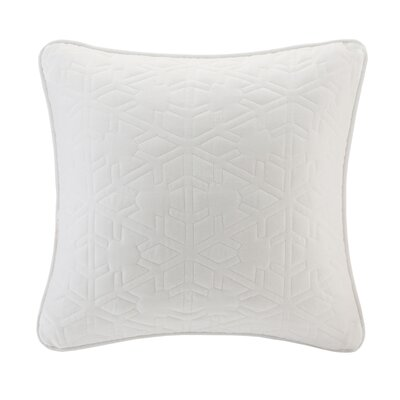 Quilted Snowflake Throw Pillow Color: Ivory