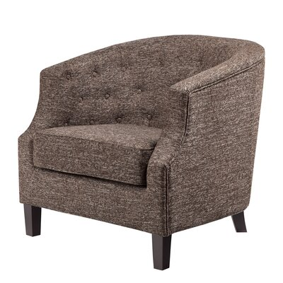 Nell Barrel Chair Upholstery: Chocolate-Charcoal