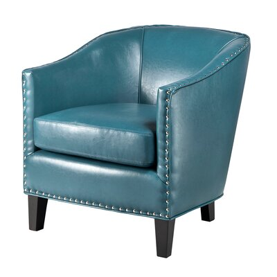 Fremont Barrel Chair Upholstery: Blue