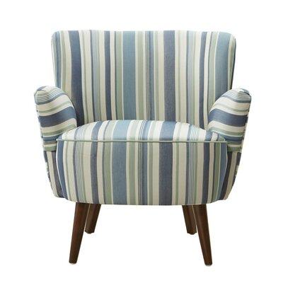 Sophie Armchair Upholstery: Green/Ocean Blue