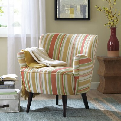 Sophie Arm Chair Upholstery: Red/Yellow