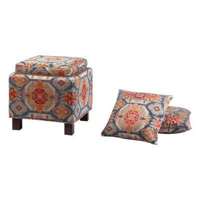 Madison Park Shelley Square Storage Ottoman