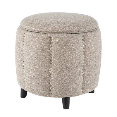 Mason Ottoman Upholstery: Grey