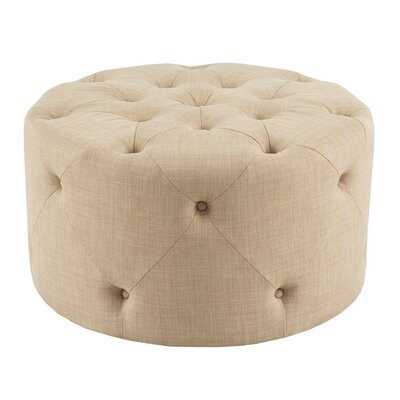 Hesser Cocktail Ottoman Upholstery: Linen