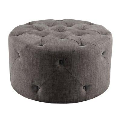 Jenna Ottoman Upholstery: Grey
