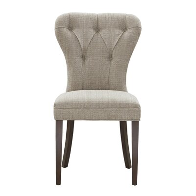 Jules Side Chair Upholstery: Cream/Espresso