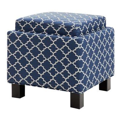 Hernandes Storage Ottoman Upholstery: Navy