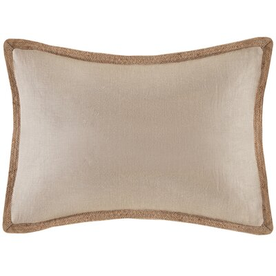 Linen with Jute Trim Oblong Pillow Color: Beige