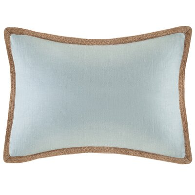 Eilene Linen Lumbar Pillow Color: Blue