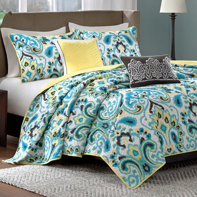 5 Piece Coverlet Set Size: King