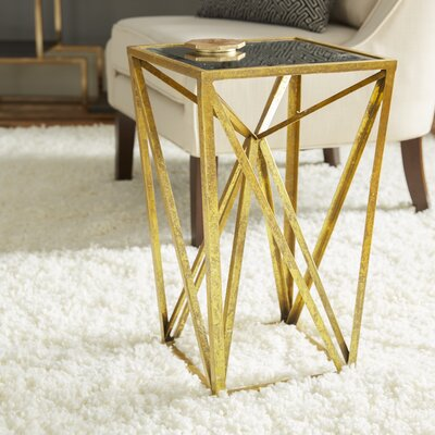 Saterfiel End Table Finish: Gold
