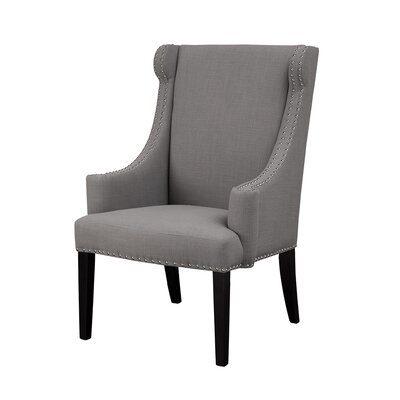 Marcel Wingback Chair Upholstery: Gray