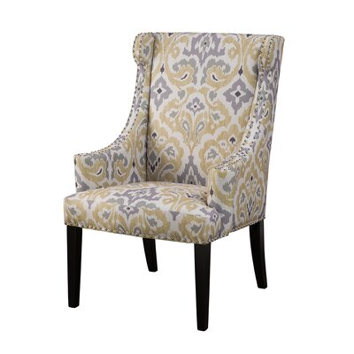 Marcel Wingback Chair Upholstery: Yellow