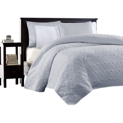 Hanna Coverlet Set Size: Full / Queen, Color: Gray