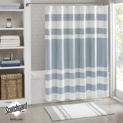 Malory Shower Curtain Size: 72 W x 72 H, Color: Blue