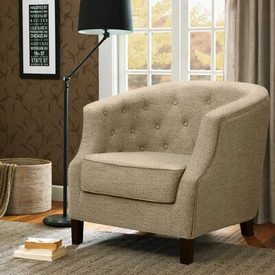 Nell Barrel Chair Upholstery: Ivory