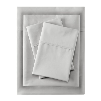 Crescent Beach Pillow Case Size: King, Color: White