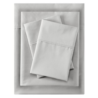 Crescent Beach 400 Thread Count 100% Cotton Sheet Set Size: Full, Color: White