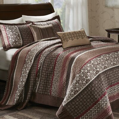 Lakemore 5 Piece Reversible Coverlet Set Size: Queen
