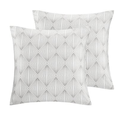 Broward Faux Silk Throw Pillow Color: Silver