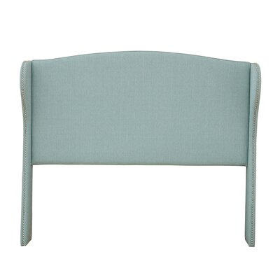 Patchell Upholstered Wingback Headboard Size: Full, Color: Light Blue