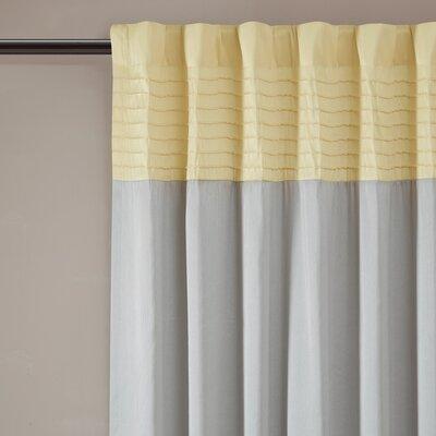 Morell Striped Blackout Rod Pocket Single Curtain Panel