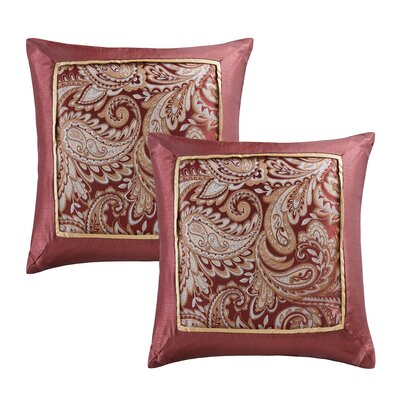 Pokanoket Silk Throw Pillow Color: Burgundy