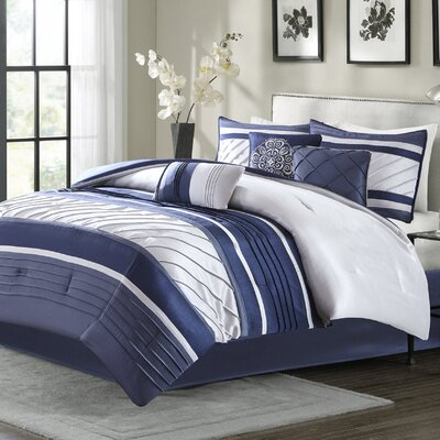 Rendville 7 Piece Comforter Set Size: California King