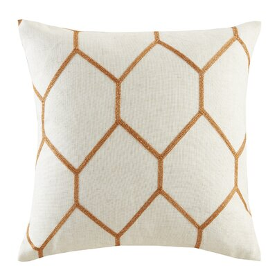 Almaguer Metallic Geo Embroidered Throw Pillow Color: Spice