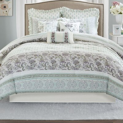 Parise 9 Piece Duvet Set Size: King