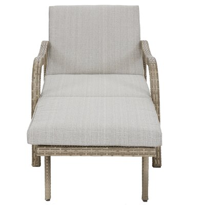 Agnes Convertible Chaise Lounge Fabric: Light Grey