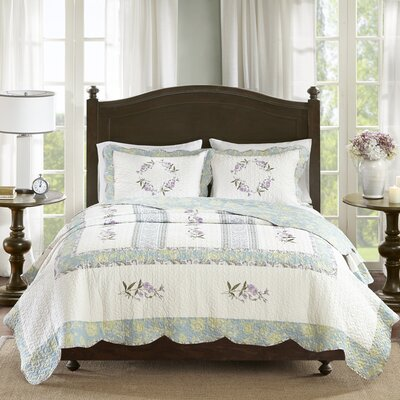 Corbeil Cotton 3 Piece Coverlet Set Size: Full/Queen