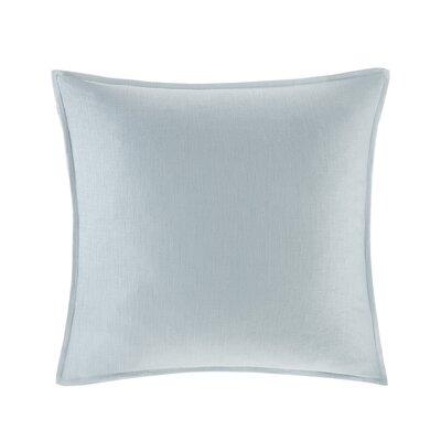Burdick 100% Linen Throw Pillow Color: Light Blue