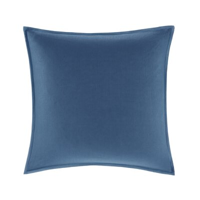 Burdick 100% Linen Throw Pillow Color: Navy
