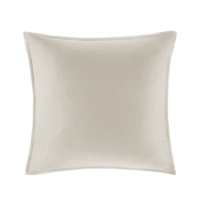 Burdick 100% Linen Throw Pillow Color: Linen
