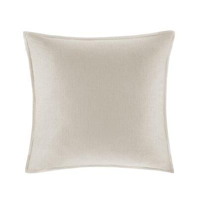 Burdick 100% Linen Throw Pillow Color: Linen