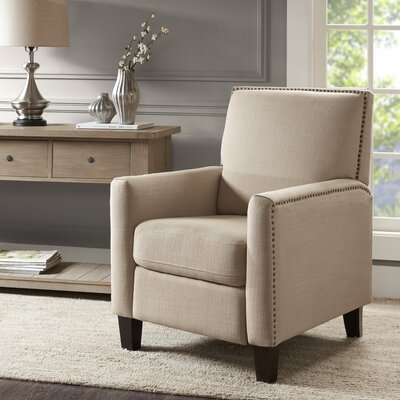 Brightling Manual Push Back Recliner Upholstery: Sand