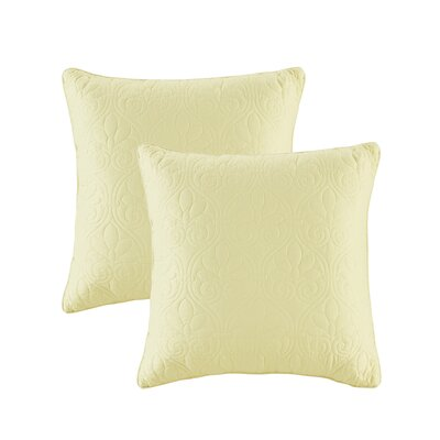 Emy Quilted Throw Pillow Color: Yellow