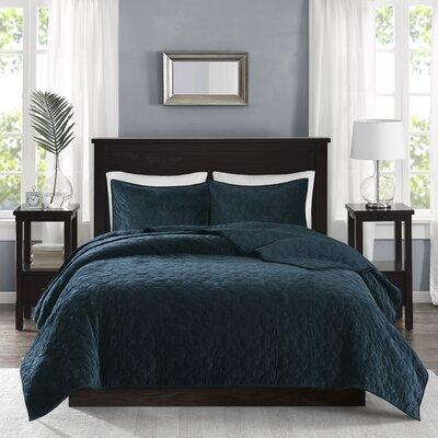 Bruggeman 3 Pieces Coverlet Set Size: Full/Queen, Color: Teal