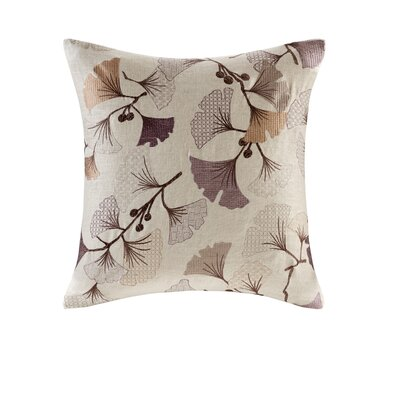 Carollo Bloom Embroidered Throw Pillow Color: Purple