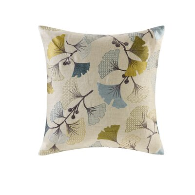 Carollo Bloom Embroidered Throw Pillow Color: Blue