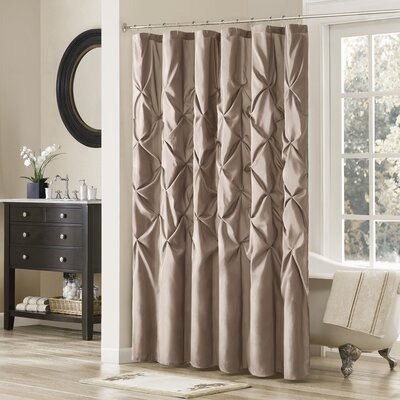 Benjamin Shower Curtain Color: Taupe, Size: 96 H x 72 W