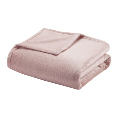 Microlight Blanket Size: Full/Queen, Color: Blush
