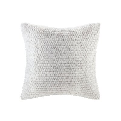 Belina Luxury Faux Fur Throw Pillow Color: Gray