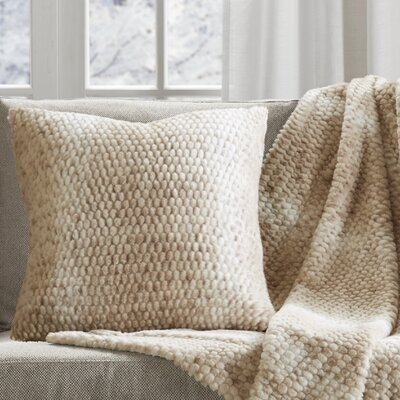Belina Luxury Faux Fur Throw Pillow Color: Tan