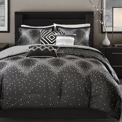 Jesse 7 Piece Comforter Set Size: King